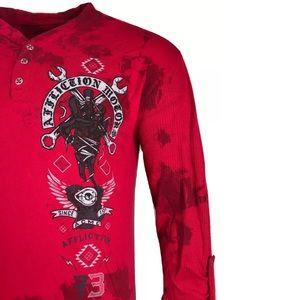 AFFLICTION Mens T-shirt BAD LUCK MOTOR Biker Skull Biker Cross MMA UFC S-XL $55